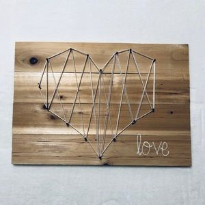 String Art Heart Sign